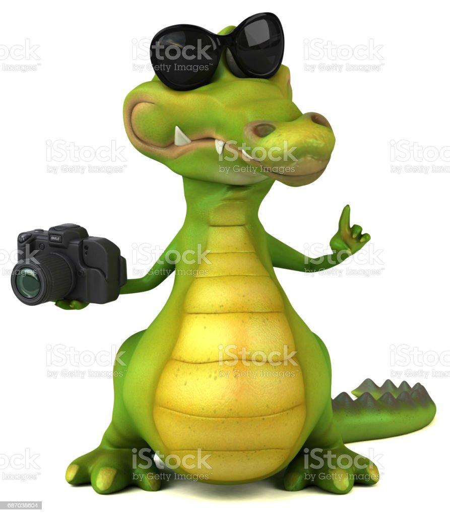 Fun Krokodilleder Lizenzfreies fun krokodilleder stock vektor art und mehr bilder von alligator