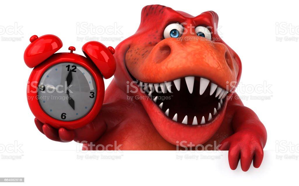 Fun dinosaur - 3D Illustration royalty-free fun dinosaur 3d illustration stock vector art & more images of alarm clock