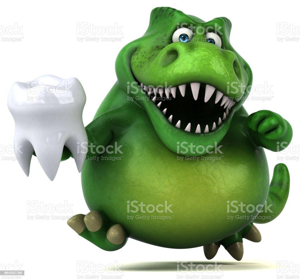 Fun dinosaur - 3D Illustration royalty-free fun dinosaur 3d illustration stock vector art & more images of ancient