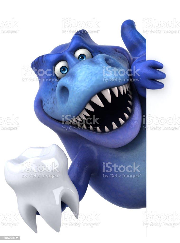 Fun dinosaur - 3D Illustration royalty-free fun dinosaur 3d illustration stock vector art & more images of animal