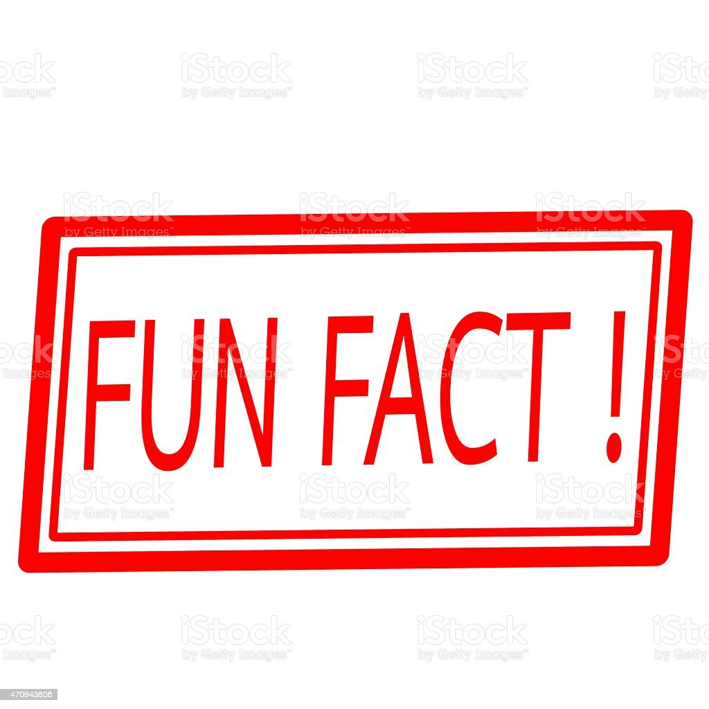 Fun fact red stamp text on white vector art illustration