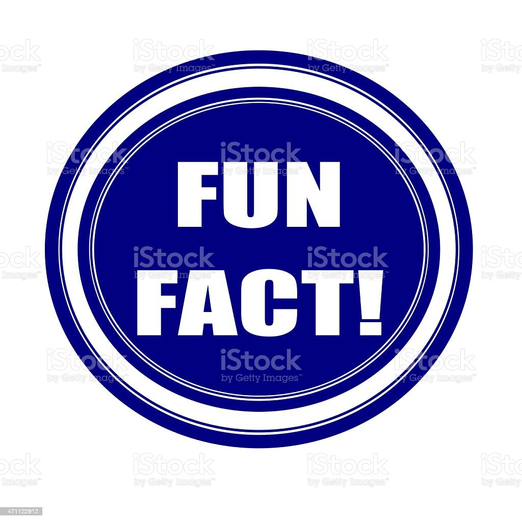 Fun fact white stamp text on blueblack vector art illustration