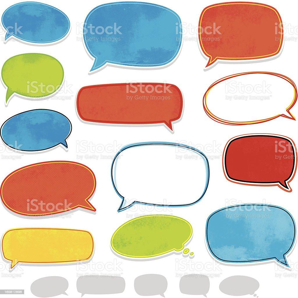 Fun speech bubbles royalty-free stock vector art