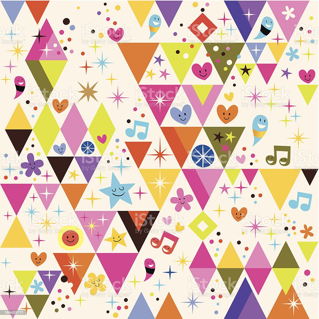 fun triangles background royalty-free stock vector art