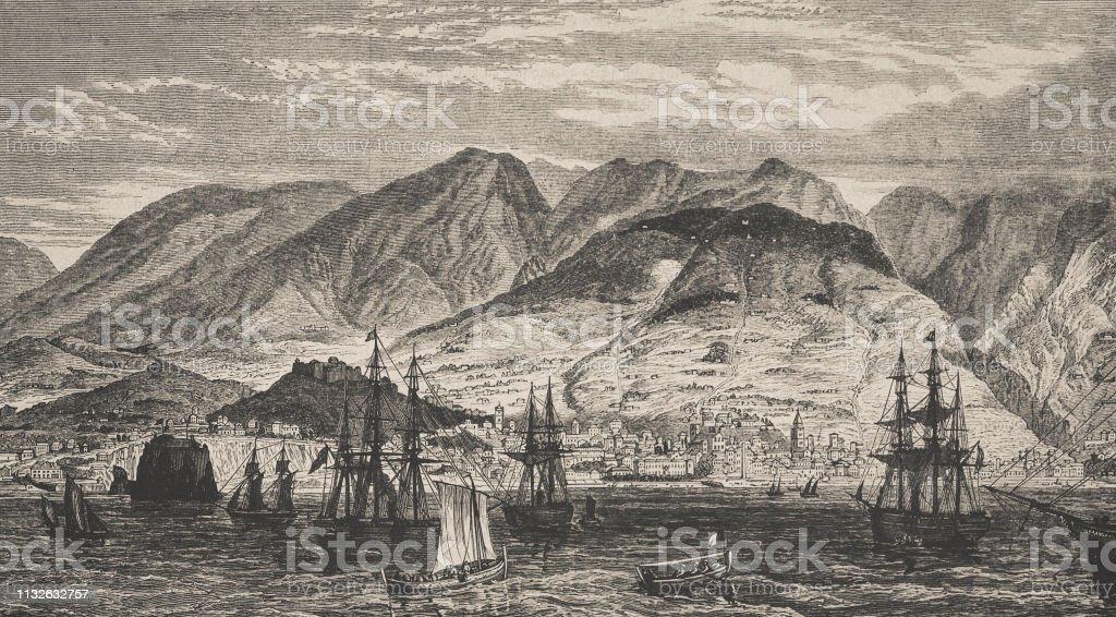 Funchal on Madeira. - Royalty-free 1870-1879 Ilustração de stock