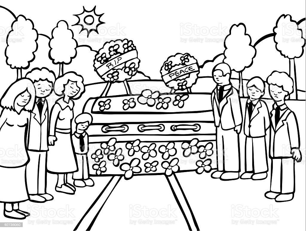 Funeral Zeremonie Line Art Lizenzfreies funeral zeremonie line art stock vektor art und mehr bilder von anzug