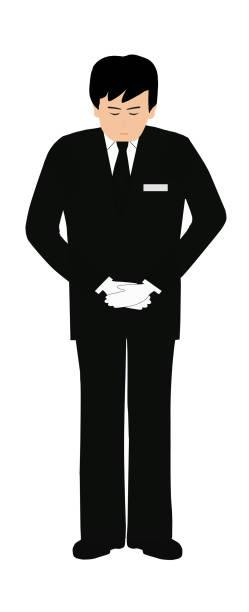 funeral – artystyczna grafika wektorowa