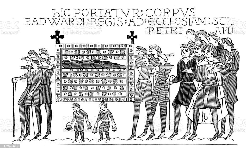 Funeral of St. Edward the Confessor vector art illustration