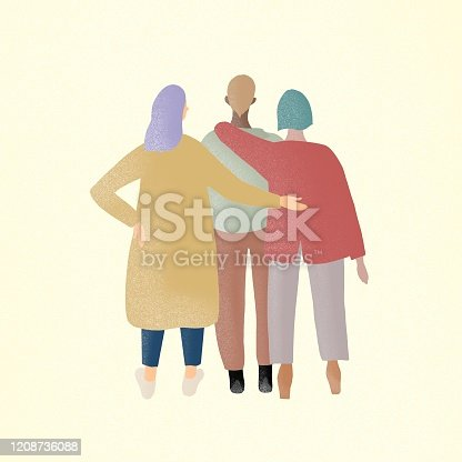 hugging, girl, women, empower, strong, confidence, hobby, group, one person, feminist