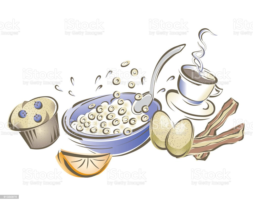 Funky Breakfast royalty-free funky breakfast stock vector art & more images of bacon