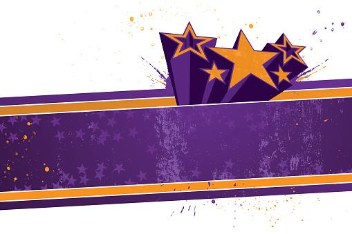 Funky retro star banner