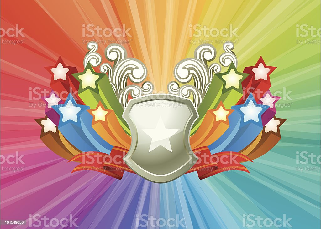 Funky Shield royalty-free stock vector art