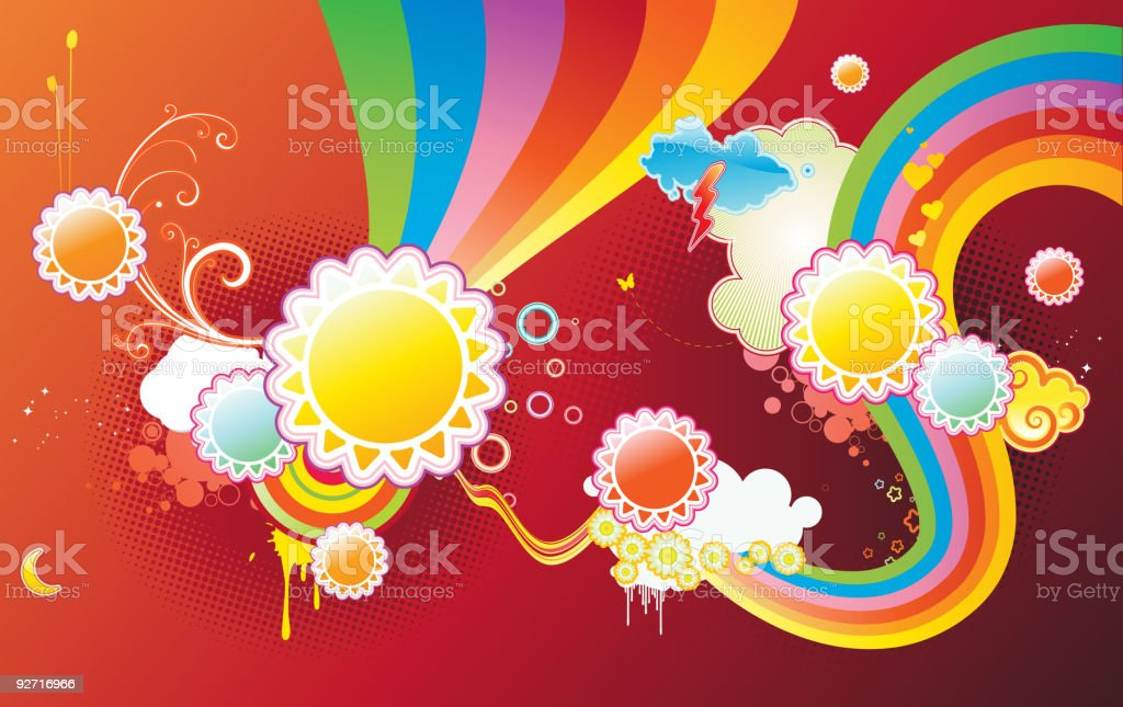 funky styled design background royalty-free stock vector art