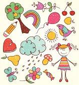 Hand-drawn kids illustration