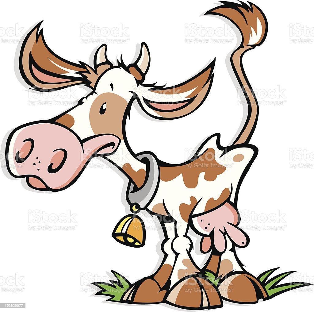 Lustige Kuh Comic Stock Vektor Art und mehr Bilder von