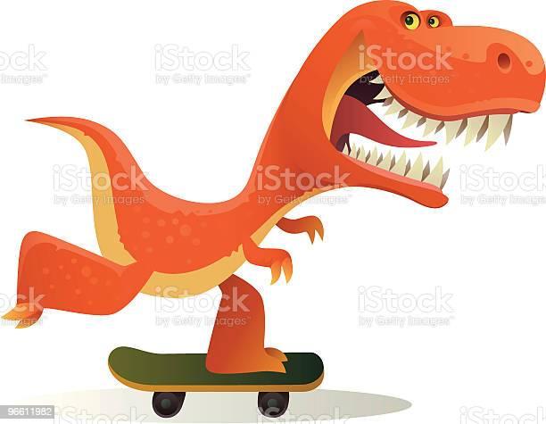 Funny Dinosaur-vektorgrafik och fler bilder på Design