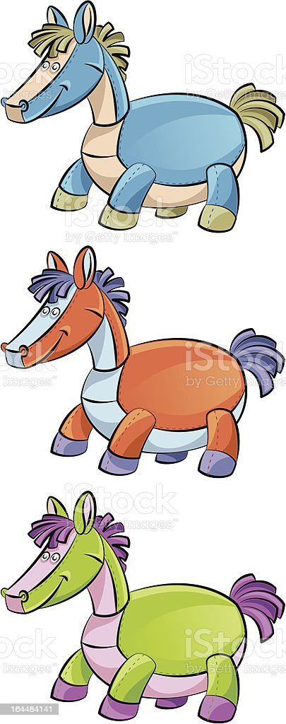 Funny horse royalty-free stock vector art