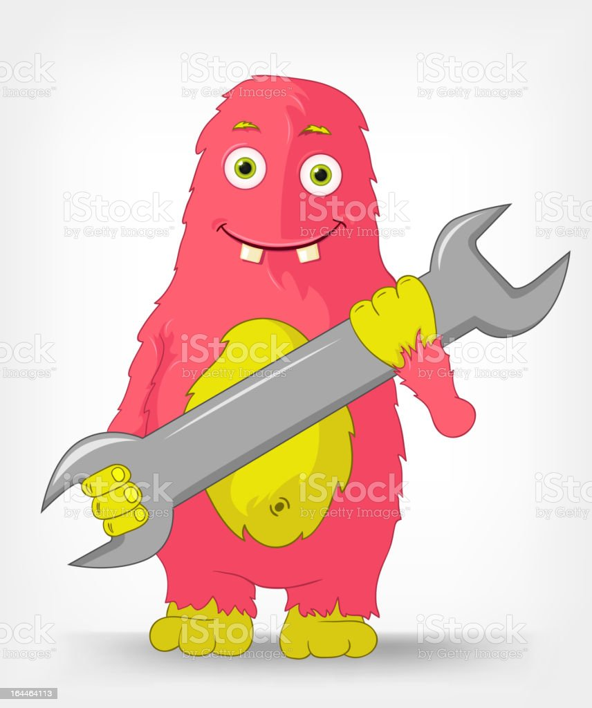 Funny Monster. Support. royalty-free funny monster support stock vector art & more images of business