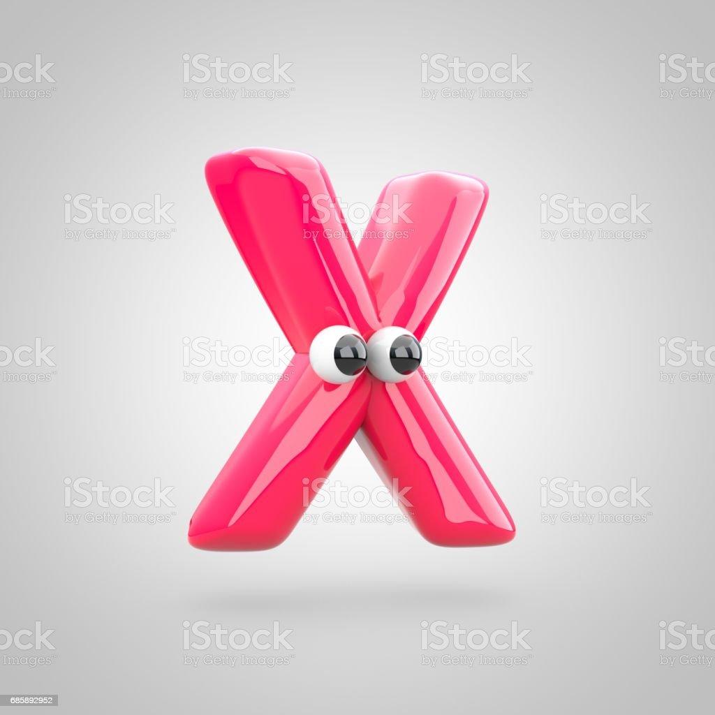 Lettre Rose Drole X Majuscule Avec Les Yeux Vecteurs Libres De Droits Et Plus D Images Vectorielles De Balle Ou Ballon Istock