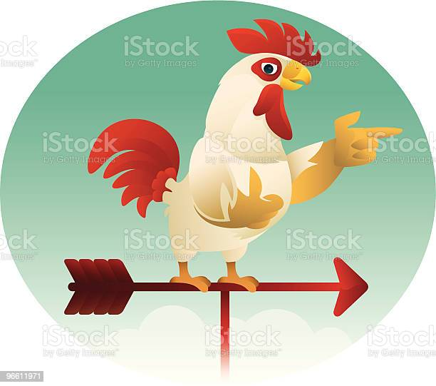 Funny Rooster-vektorgrafik och fler bilder på Boskap