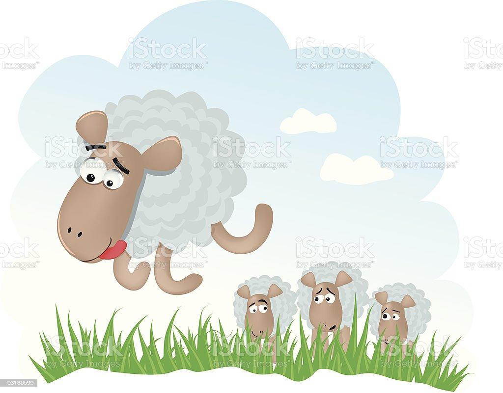 Funny sheeps