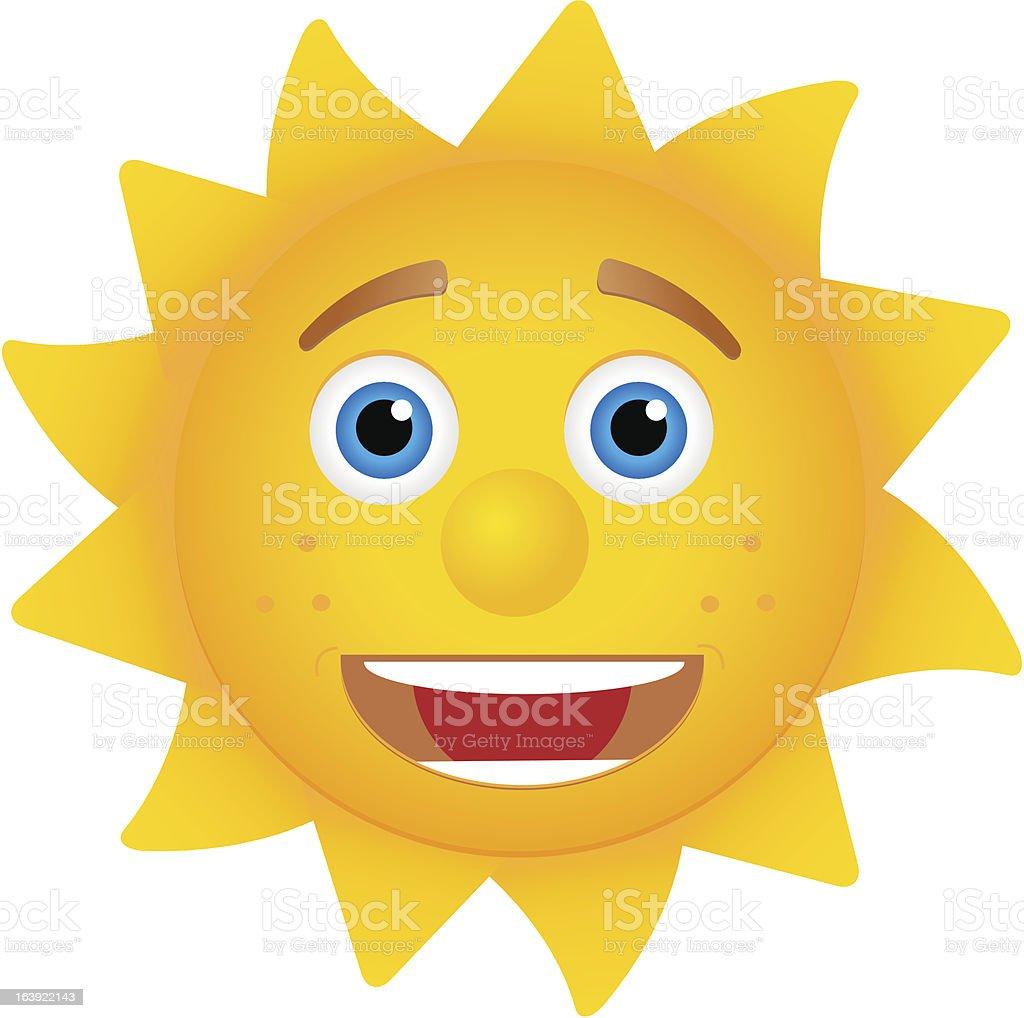 Funny sun royalty-free stock vector art