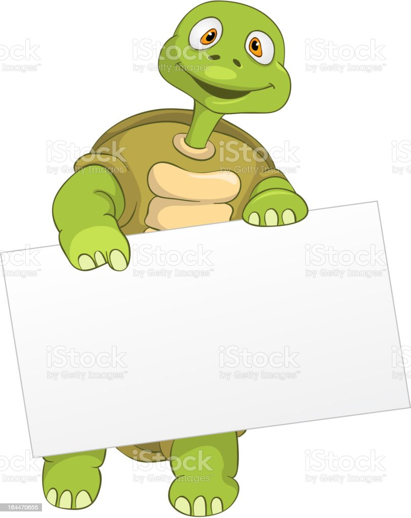 Funny Turtle royalty-free stock vector art
