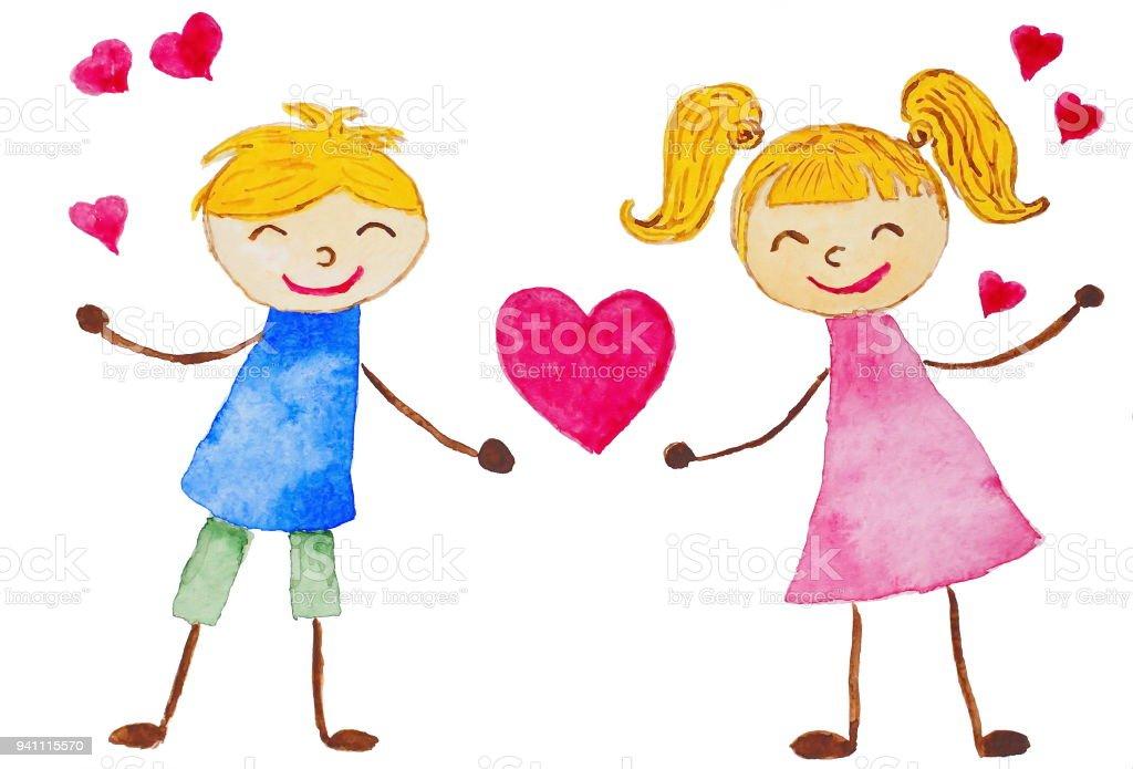 Ilustración de Tarjeta De San Valentín Divertida Dibujos Animados ...