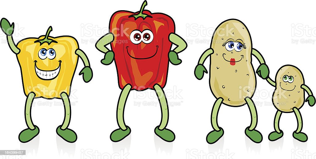 Funny vegetables royalty-free stock vector art