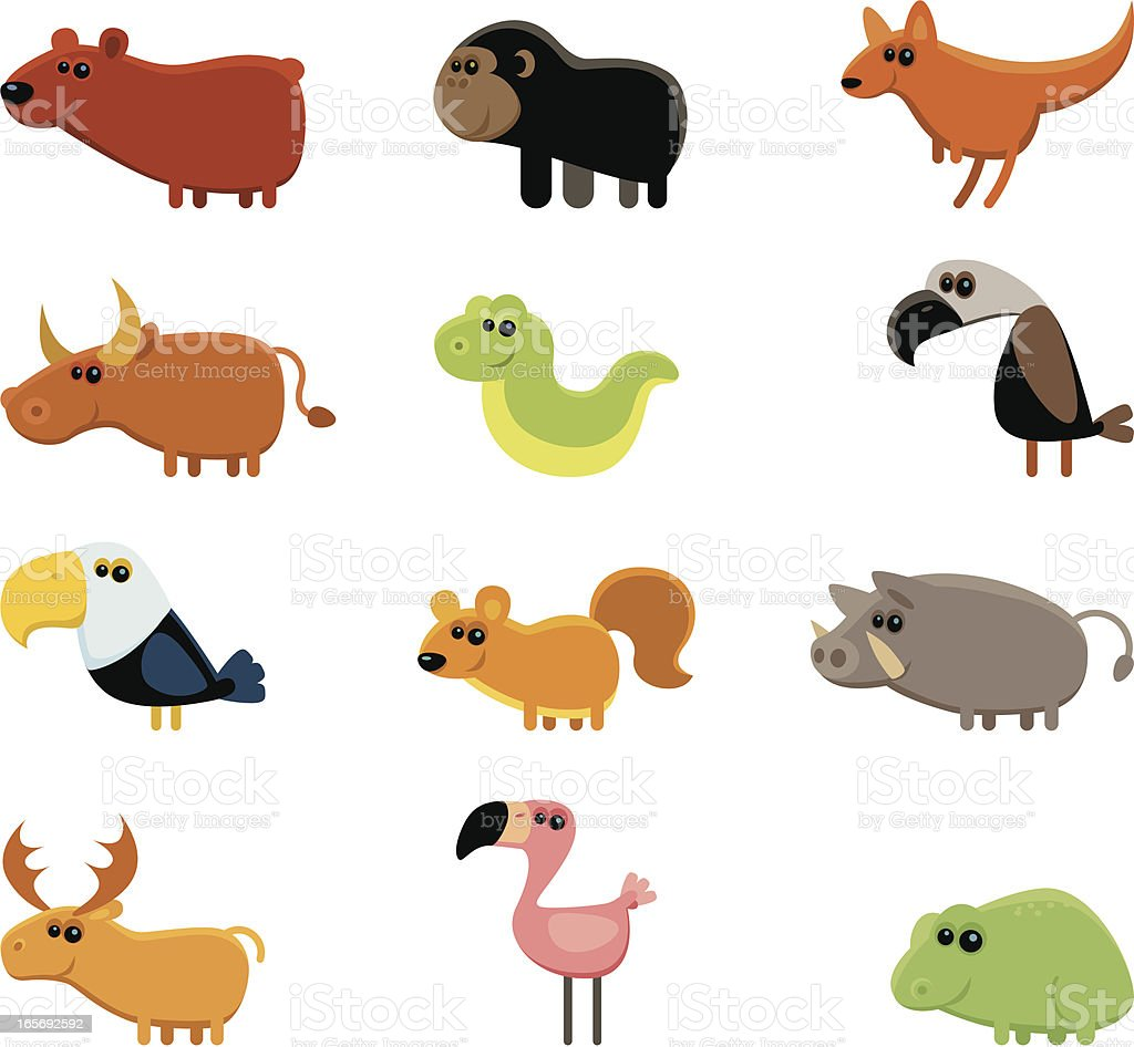 funny wild animals royalty-free stock vector art