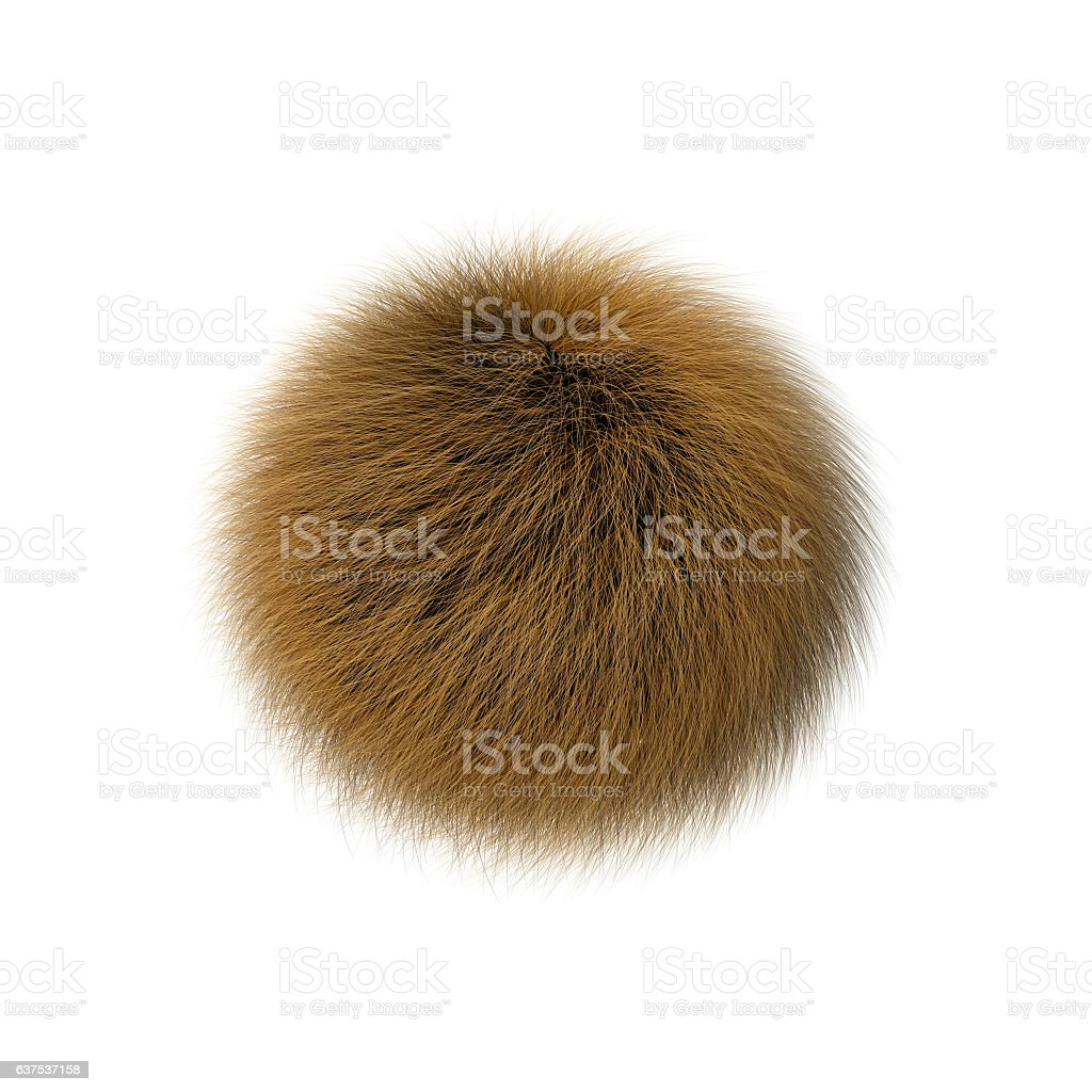 Fur ball vector art illustration