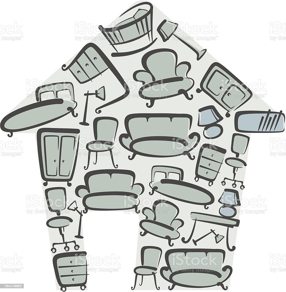 Mobilier pour la maison mobilier pour la maison vecteurs libres de droits et plus d