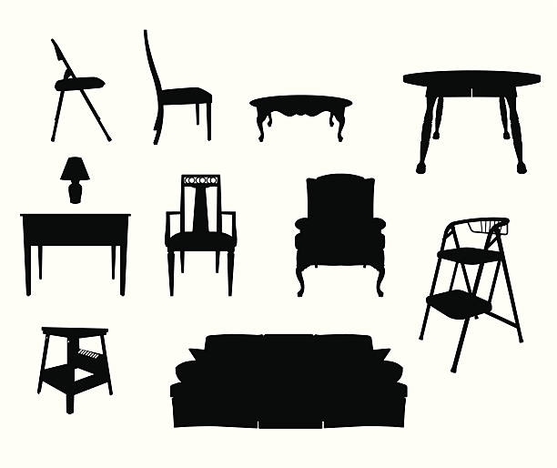 Furniture Silhouettes vector art illustration