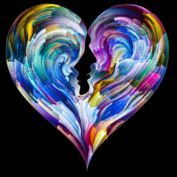 Fused Heart vector art illustration