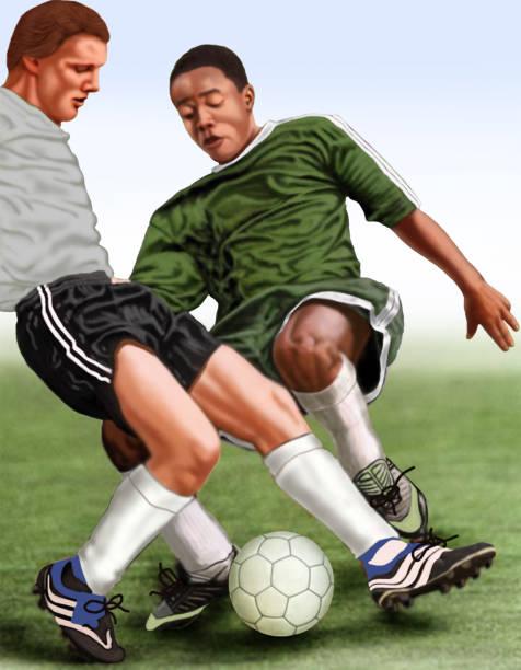 Futebol jogo de futebol. futebol stock illustrations
