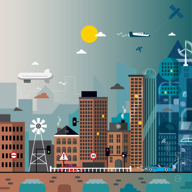 Future City vector art illustration