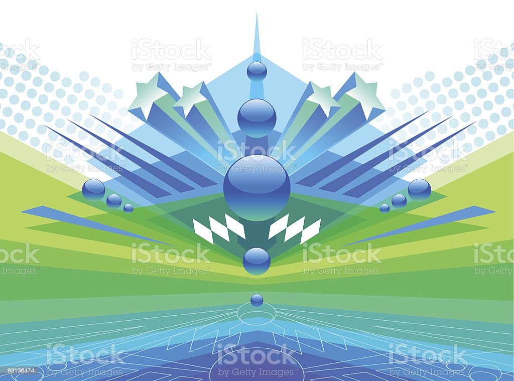 Futuristic abstract vector illustration royalty-free stock vector art