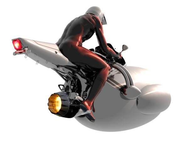 ilustrações de stock, clip art, desenhos animados e ícones de futuristic air travel vehicle - exhaust white background
