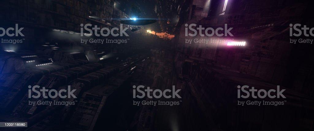 Futuristic Scifi Mega City Stock Illustration Download Image Now Istock