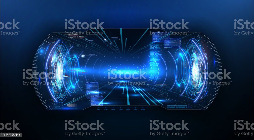 Futuristic Vr Headup Display Design Future Technology