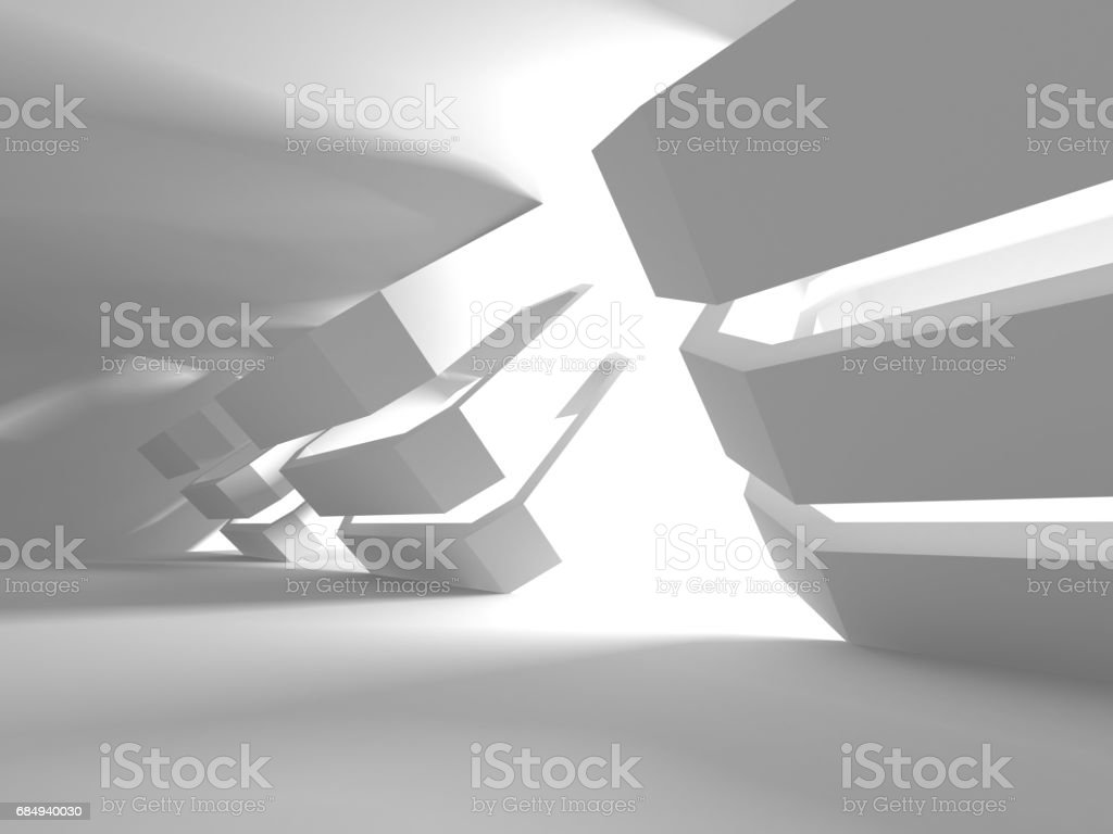Futuristic White Architecture Design Background Lizenzfreies futuristic white architecture design background stock vektor art und mehr bilder von abstrakt