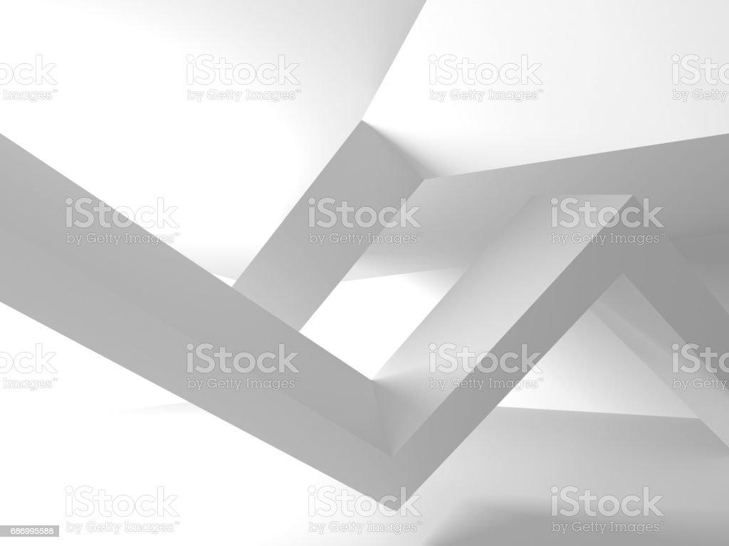 Futuristische Architektur, die weißen Design-Hintergrund Lizenzfreies futuristische architektur die weißen designhintergrund stock vektor art und mehr bilder von abstrakt