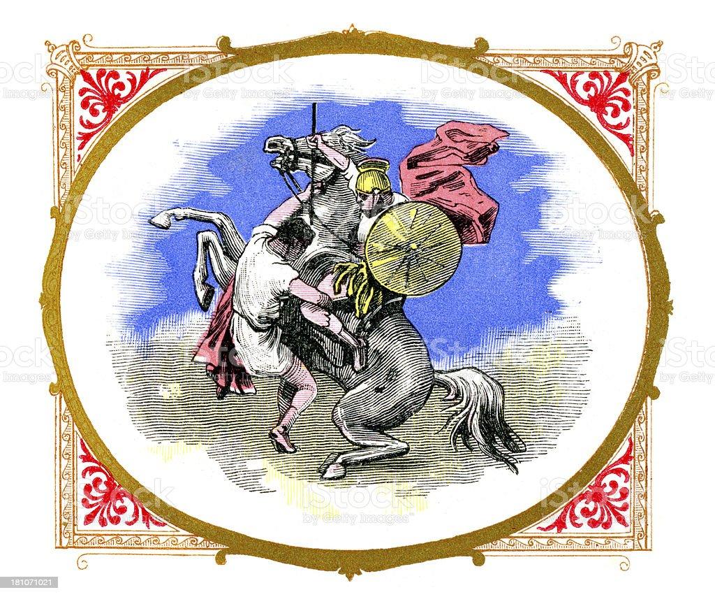 Gaius Asinius Pollio royalty-free stock vector art