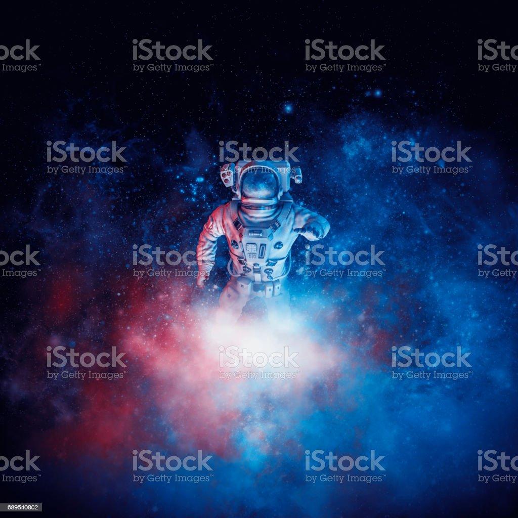 Astronauta de nube Galáctica - ilustración de arte vectorial