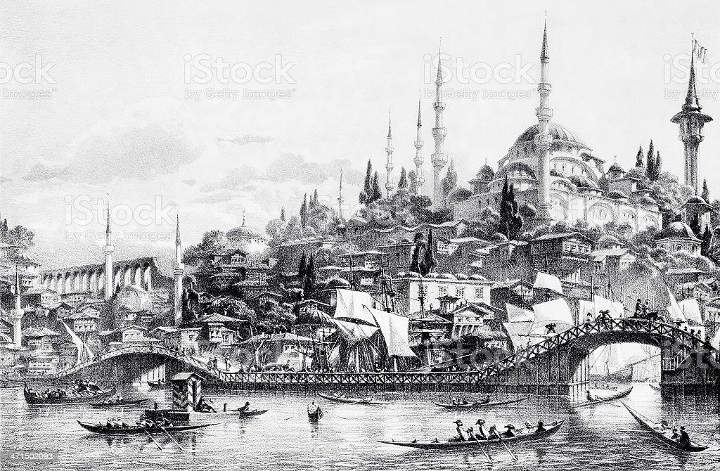 Galata-Brücke, Istanbul – Vektorgrafik