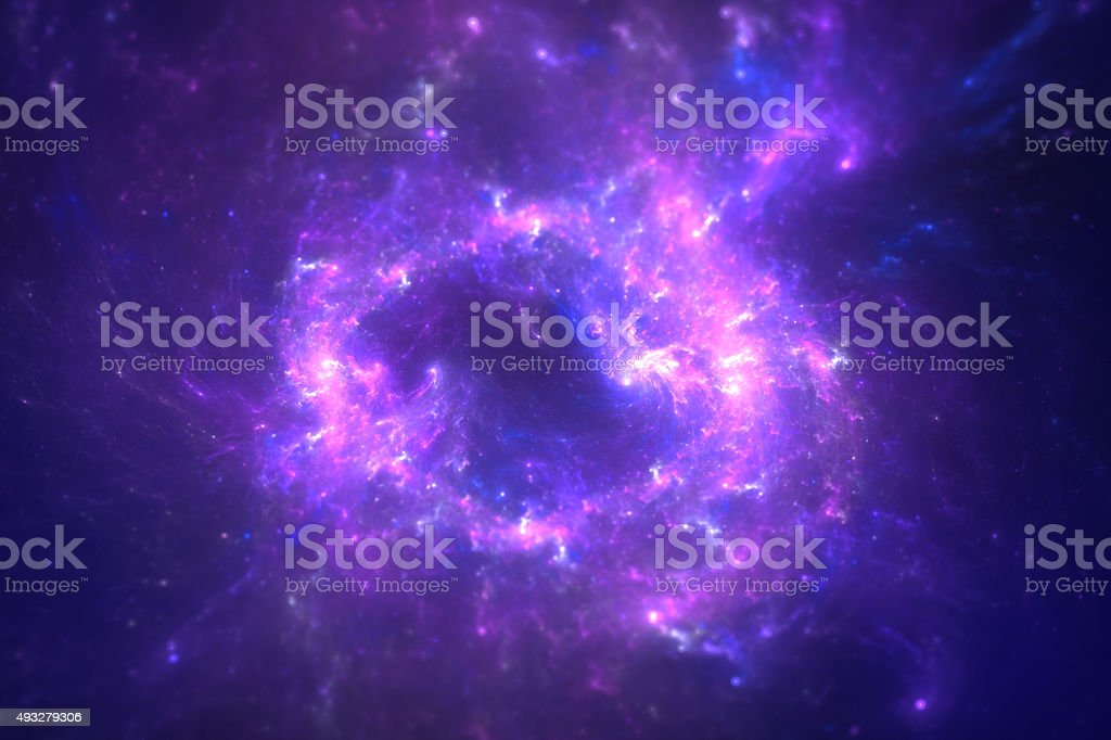 Galaxy vector art illustration