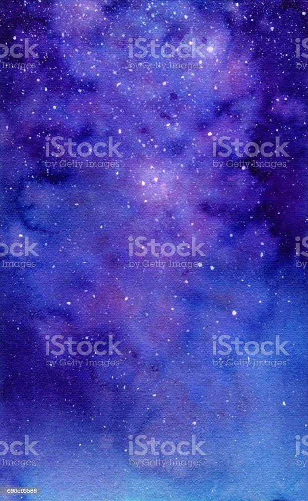 Galaxy, watercolor illustration vector art illustration