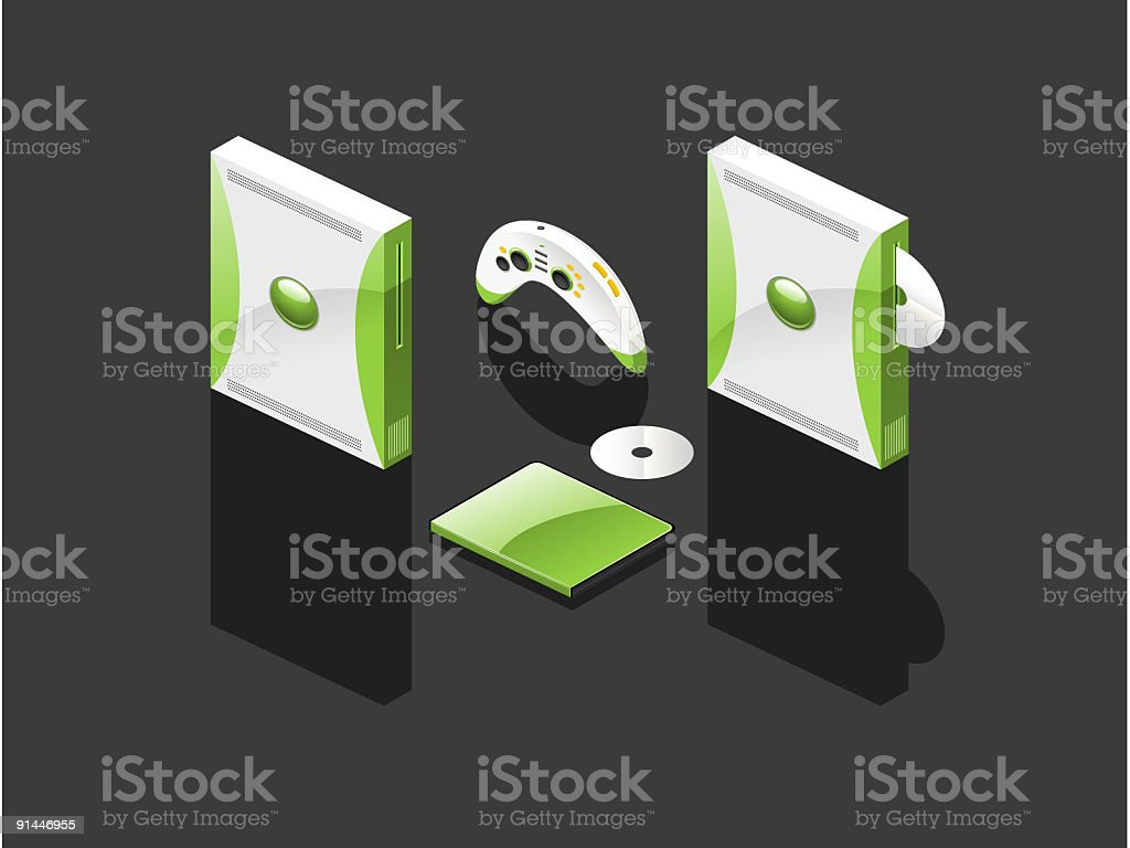Game Console (Vector) royalty-free stock vector art