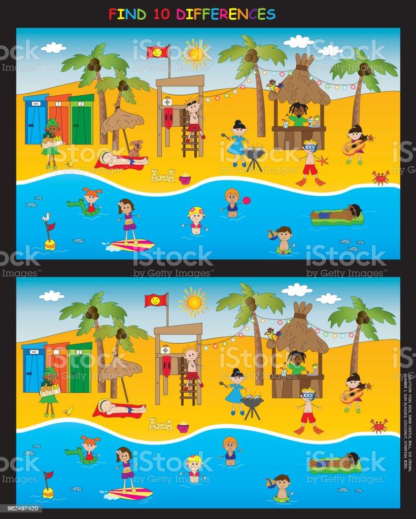 game for children - Royalty-free Beach stock illustration