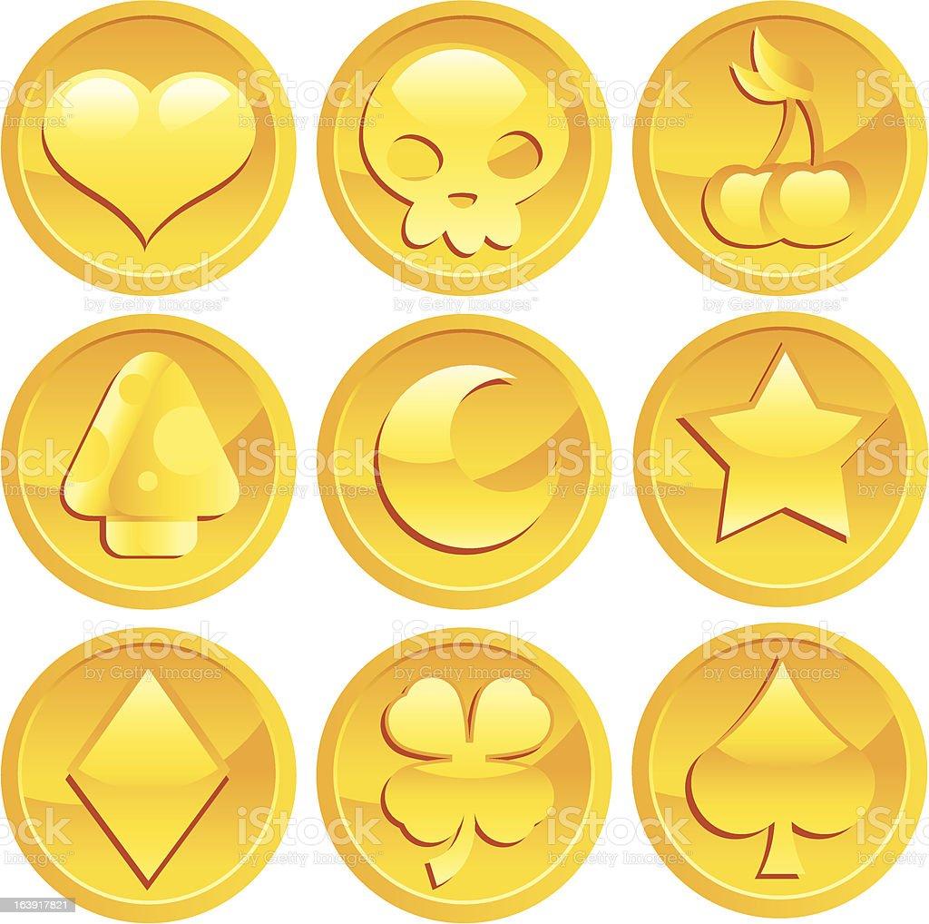 Game Gold Coins vector art illustration